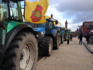 Farmers tractor rally outside County Hall